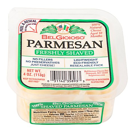 Belgioioso Natural Shaved Parmesan Cup - 4 Oz