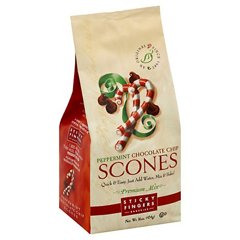 Sticky Fingers Scones Premium Mix Peppermint Chocolate Chip - 16 Oz