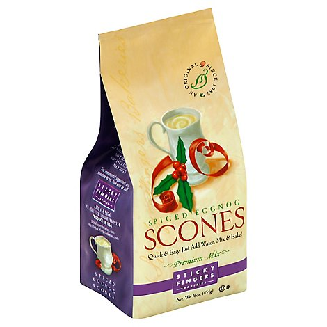 Sticky Fingers Scones Premium Mix Spiced Eggnog - 16 Oz