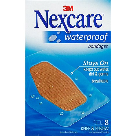 Nexcare Bandages Waterproof Knee & Elbow - 8 Count