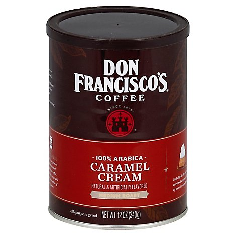 Don Franciscos Coffee All Purpose Grind Medium Roast Caramel Cream - 12 Oz