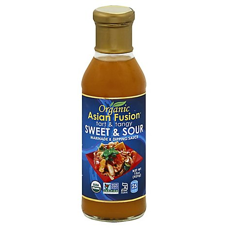 Asian Fusion Sauce Sweet & Sour Org - 15 Oz