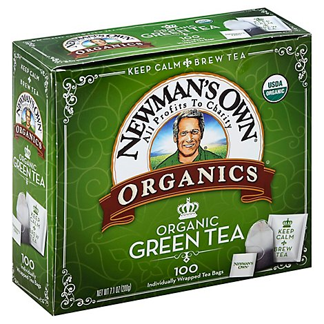 Newmans Own Organics Green Tea 100 Count - 7.1 Oz