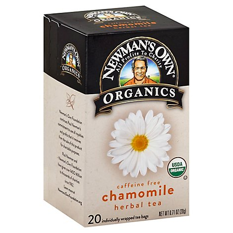 Newmans Own Organics Tea Bags Herbal Chamomile 20 Count - 0.71 Oz