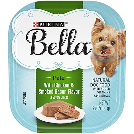 Bella Dog Food Wet Savory Juices Chicken & Smoked Bacon - 3.5 Oz