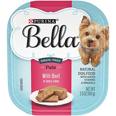 Bella Dog Food Wet Savory Juices Beef - 3.5 Oz