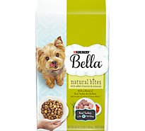Bella Dog Food Dry Natural Bites Turkey & Chicken And Accents Of Carrots & Green Beans - 3 Lb