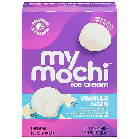 MyMo Mochi Ice Cream Vanilla Bean - 6-1.5 Oz