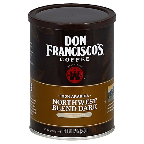 Don Franciscos Coffee All Purpose Grind Dark Roast Northwest Blend Dark - 12 Oz