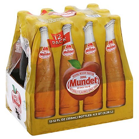 Sidral Mundet Soda Apple - 12-12 Fl. Oz.