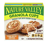 Nature Valley Granola Cups Peak Edition Peanut Butter Chocolate - 5-1.35 Oz