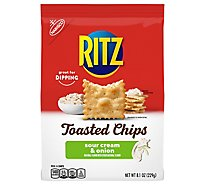 RITZ Toasted Chips Sour Cream And Onion 40% Less Fat - 8.1 Oz