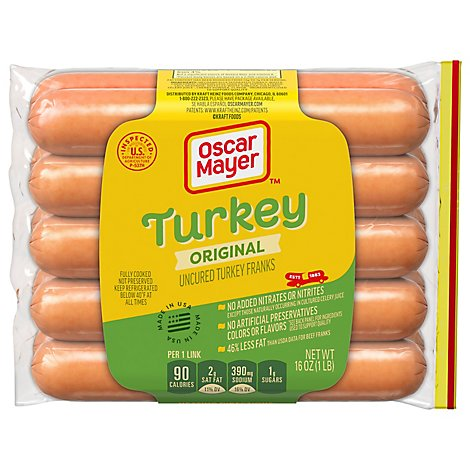 Oscar Mayer Louis Rich Franks Turkey - 16 Oz