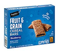 Signature SELECT Cereal Bars Fruit & Grain Blueberry - 8-1.3 Oz