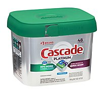 Cascade Platinum Dishwasher Detergent ActionPacs Fresh Scent Tub - 48 Count