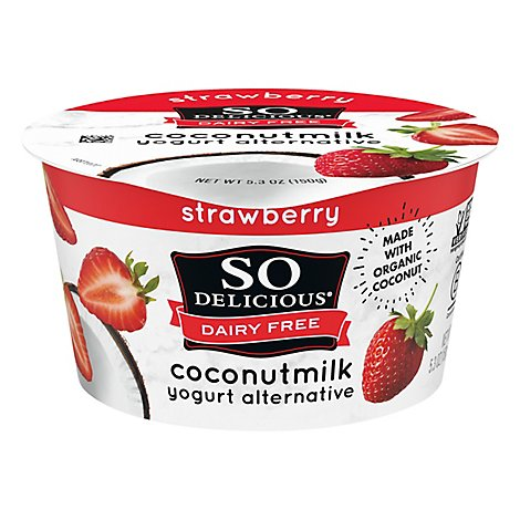 So Delicio Yogurt Ccnut Strw - 6 Oz