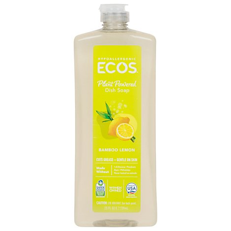ECOS Dishmate Dish Liquid Bamboo Lemon Bottle - 25 Fl. Oz.