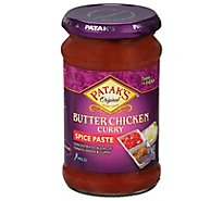 Pataks Curry Paste Concentrated For Butter Chicken Mild - 11 Oz