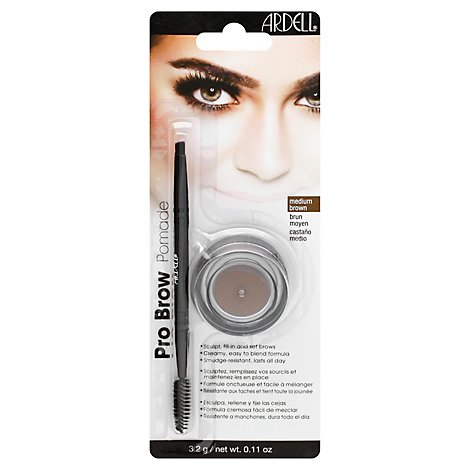 Ardell Brow Pomade Pro Medium Brown 68271 - 0.11 Oz