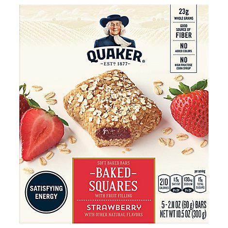 Quaker Breakfast Squares Strawberry - 5-2.11 Oz