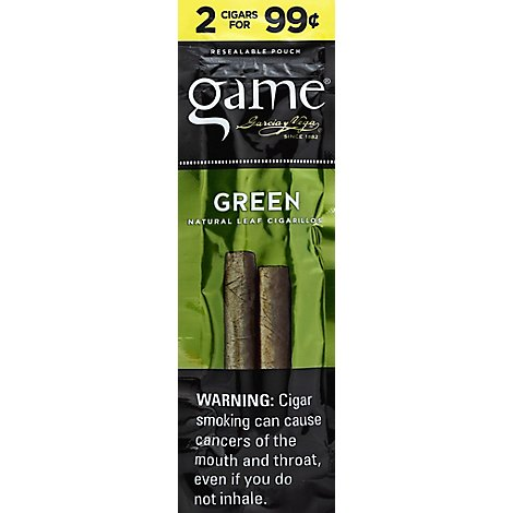 White Owl Green Leaf Cigars - 2 Count