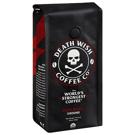 Death Wish Coffee Co. Coffee Ground - 1 Lb