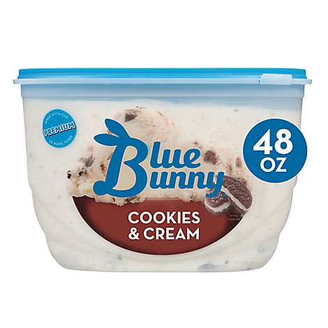 Blue Bunny Ice Cream Cookies & Cream - 48 Fl. Oz.