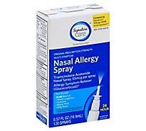 Signature Care Nasal Allergy Spray Multi Symptom Original Strength 55mcg - 0.57 Fl. Oz.