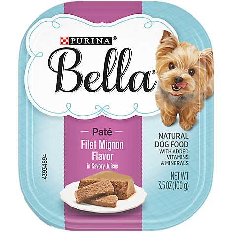 Bella Dog Food Wet Savory Juices Filet Mignon Flavor - 3.5 Oz