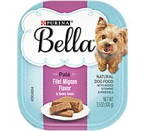 Bella Dog Food Pate Natural Filet Mignon Flavor In Savory Juices - 3.5 Oz