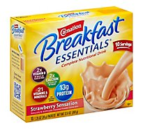 Carnation Breakfast Essentials Powder Drink Mix Strawberry Sensation - 10-1.26 Oz