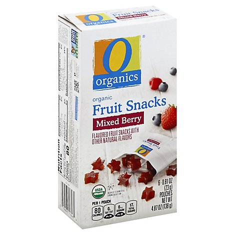 O Organics Organic Fruit Snacks Strawberry - 6-0.81 Oz