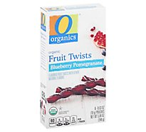 O Organics Organic Fruit Twists Blueberry Pomegranate - 8-0.63 Oz