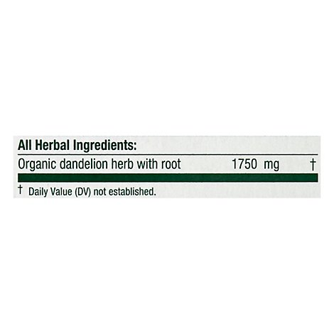 Traditional Medicinals Herbal Tea Organic Dandelion Leaf & Root - 16 Count