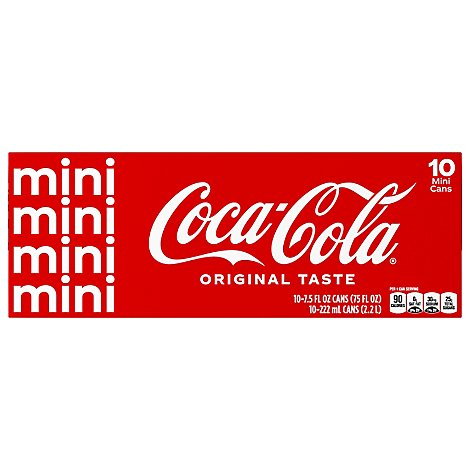 Coca-Cola Soda Classic Mini Fridge Pack Cans - 10-7.5 Fl. Oz.