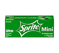 Sprite Soda Lemon Lime Mini Fridge Pack Cans - 10-7.5 Fl. Oz.