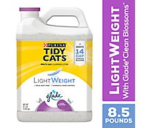 Tidy Cats Cat Litter LightWeight Clumping For Multiple Cats With Glade Clean Blossoms - 8.5 Lb