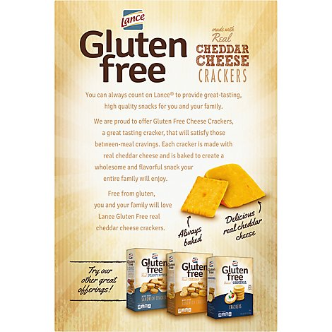 Lance Baked Gf Crackers Cheese - 5 Oz