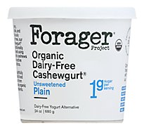 Forager Project Organic Yogurt Alternative Cashewmilk Dairy Free Unsweetened Plain - 24 Oz