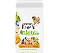 Beneful Dog Food Premium Grain Free With Farm-Raised Chicken Bag - 4.5 Lb