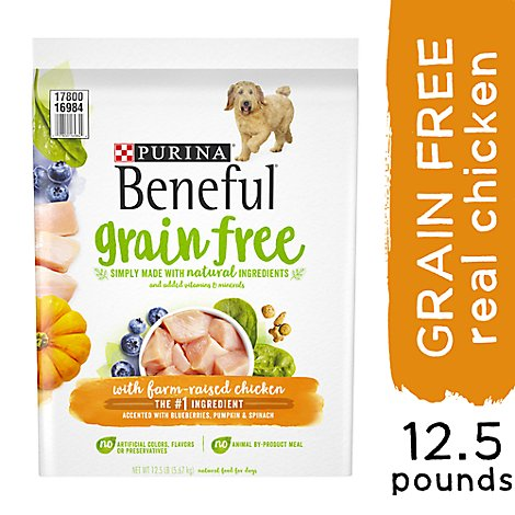 Beneful Dog Food Premium Grain Free With Farm-Raised Chicken Bag - 12.5 Lb