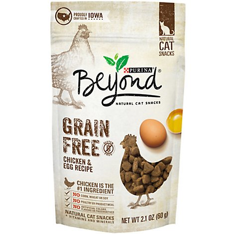 Beyond Cat Treats Grain Free Chicken & Egg - 2.1 Oz