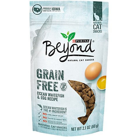 Beyond Cat Treats Grain Free Ocean Whitefish & Egg - 2.1 Oz