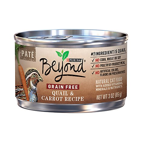 Beyond Cat Food Grain Free Pate Quail & Carrot Recipe Can - 3 Oz