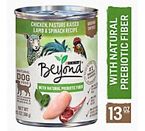 Beyond Dog Food Grain Free Ground Entree Chicken Lamb & Spinach Recipe Can - 13 Oz
