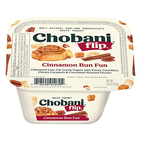 Chobani Flip Yogurt Greek Cinnamon Bun Fun - 5.3 Oz