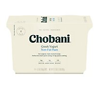 Chobani Yogurt Greek Non-Fat Plain - 4-5.3 Oz