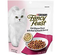Fancy Feast Cat Food Dry Filet Mignon With Seafood & Shrimp - 16 Oz