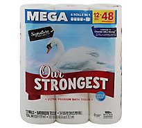 Signature Care Bathroom Tissue Ultra Premium Mega Rolls 2 Ply - 12 Roll