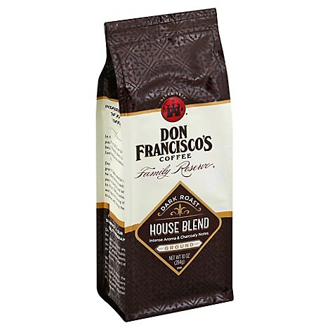 Don Franciscos Coffee Family Reserve Coffee Ground Bold Roast House Blend - 10 Oz